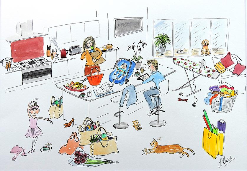 Commission-Family scene